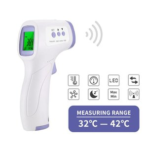 Digital Infrared Thermometer Non-Contact Forehead IR Ear Fever Electronic Laser Temperature Measuring Instrument Home Outdoor Baby Adult