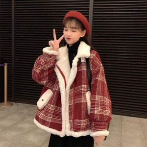 Woolens Coat Womens Clothing 2020New Autumn Winter Korean Fashion Loose All-Match Casual Thicken Woolen Cloth Jacket Female A321