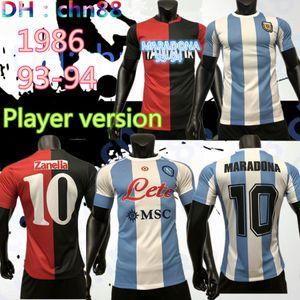 لاعب نسخة نابولي الرابع 1986 الأرجنتين مارادونا لكرة القدم جيرسي الرجعية نسخة نيويلز كبار الفتيان 2020 مارادونا # 10 جودة قميص كرة القدم