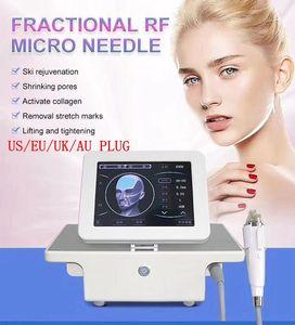 Portatile Fractional RF Auto Microneedle Microneedle Machine Rimozione Skin Skin Stringere il dispositivo di cura della pelle Frequenza Radio 10/25/64 / Nano Cartuccia