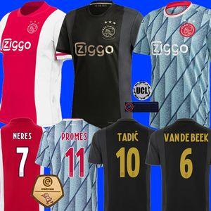 20 21 AJAX amsterdam FC Fußballtrikot 2020 2021 KUDUS ANTONY BLIND PROMES TADIC NERES CRUYFF Männer Kinder Kit Trikot Uniformen Dritter 50 ..