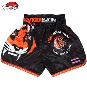 Suotf Tiger Match Sanda Training Atmungsaktive Muay Kleidung Shorts Thai Boxing MMA 201216
