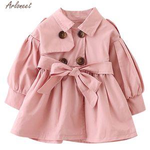 ARLONEET Coat Autumn Winter kids Girls Boys Cotton Long sleeve Coat Jacket Kids O-Neck Cartoon Belt Warm Clothes 201110