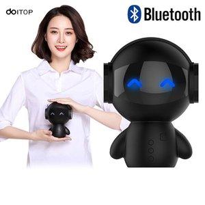 Doitop Mini Lindo Robot Lindo Altavoz Bluetooth Power Bank TF Card Llamada a mano Micro Bass Smartphones PC Altavoz Caja A31