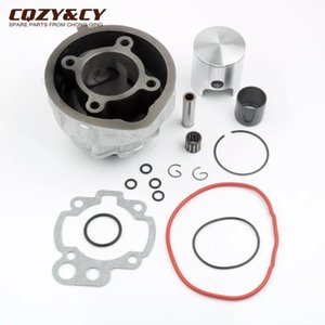 Motocicleta 49mm 90cc Big Bore Kit de cilindro para DT50 TZR 50 AM6 Minarelli 2 Stroke Motor Parts1