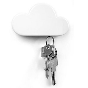 Key magnet white magnetic seat cloud-shaped household ABS plastic practical high quality