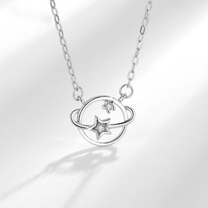 Sterling silver dream planet necklace ins niche net red universe clavicle chain