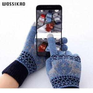 Перчатки Женщины Сенсорный Экран Зимние Перчатки Вязание Рождественские Перчатки Вождение Handscheneen Luvas de inverno Guant Jllufz