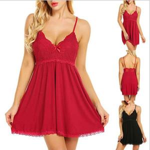 Plus Size Women Sexy Lingerie Nightgown Pajamas Sleepwear Lace Babydoll Underwear Sleeping Dress Transparent Erotic Lingerie Sexy Costumes