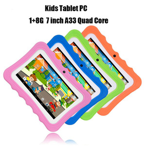 Q7 HD Screen 7 inch 1+8G Quad Core Children Tablet Android 4.4 WIFI Bluetooth Player Speaker Kid Puzzle Learning Tablet Kids Gifts
