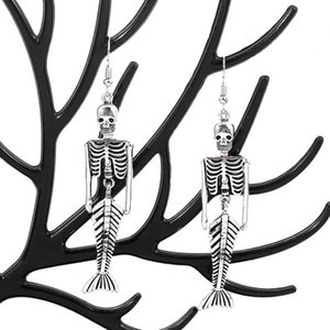 Vintage Halloween Skeleton Skull Drop Earrings For Women Girl Jewelry Party Gifts Aretes De Mujer Modernos 2020 Piercing bbyYhT