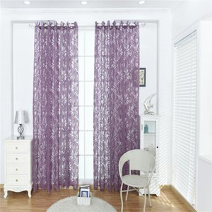 100 * 200CM Wear rods Polyester curtains for home decoration Phoenix tail bubble Window screening
