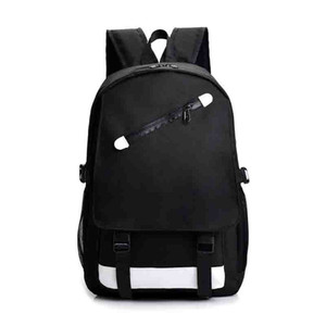 New Fashion Backpack Outdoor Traveling Letter Printed School Bags for Men Women Students Backpacks Unisex Double Shoulder Bag