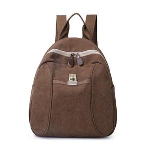 Mochila de lona de mujer Escuela de mochila Mochila para hombres Mochilas de mochilas para mujer Viajes Hombro Bagpack Adolescentes Puerto portátil Paquete trasero