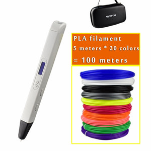 New RP800A 3D Professional Printer Pen with OLED Screen 3d Drawing Digital Pen for Doodling Art Craft Making and Education Y200428