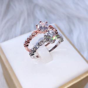 Anello in oro bianco 14k per donne band da sposa gioielli perla fine per il lusso natale classico boemia anelli d'oro donne GDTC
