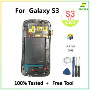 """syart For Samsung Galaxy S3 LCD Display Touch Screen Digitizer Assembly With Frame SIII i9300 4.8"""" LCDs"""