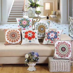 Pillowcase Cotton Embroidery Owl Pattern Pillow Cover Cushion Cover Square Decorative Pillowcase For Sofa Bed Car Throw Pillow Case ZYY364