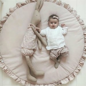 game blanket Round Cartoon Infant Lace Solid Color Creeping Baby Child Playing Rug Mat Q1121