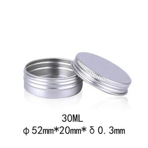 30ML الفضة المعادن الألومنيوم جرة التجميل، 30 جرام الصلبة العطور التجميل التعبئة والتغليف جرة عينة عينة العلب الحاويات GWD3576