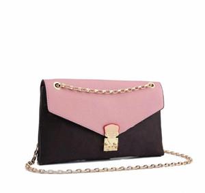 Neue Kupplung Mode Kontrastfarbe Handtasche Lady Schulter Messenger Bag Kettenklappe Freies Verschiffen