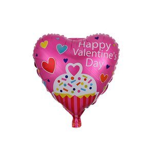 18inch Happy Valentine's Day Balloons Heart Shape Aluminum Foil Valentine Day Balloons Anniversary Wedding Party Decor 50pcs lot GWD4149