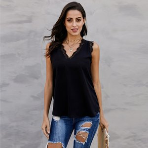 Sexy and Good looking Loose lace sling V neck camisole Ladies Camisole multiple colors for options cool and fashion