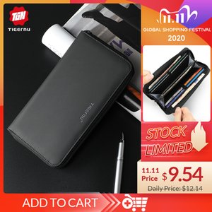 Fashion Tigernu Brand Men Wallets with Coin Purse Long Male Money Purses Waterproof Dollar Mens Money 6 inch Phone Bag