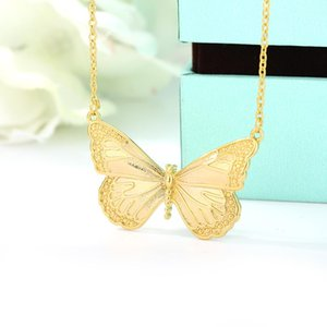 New Charm Trendy Butterfly Necklace For Women Novel Design Cute Shape Perfect Girls Stainless Steel Jewelry Accessory Gifts 2021