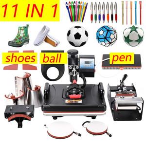 11 In 1 Combo Heat Press Machine,Sublimation Heat Press,Heat Transfer Machine For Mug Cap Tshirt Phone cases pen shoes ball