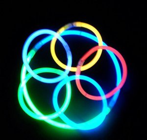 7.8''multi Color Hot Glow Stick Bracelet Necklaces Neon Party Led Flashing Light Stick Wand Novelty Toy Led Vocal Co wmtatN mywjqq
