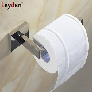 Leyden High Quality Toilet Paper Holder 304SUS Stainless Steel Wall Mounted ORB Brushed Nickel Chrome Toilet Roll Paper Holder T200425