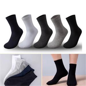 Calzini per provetta middle da uomo Trend Moda Solido Sport Sport Stretch Stretch Business Socks Inverno Semplicità Semplicità Casual Homme Mid Length Lunghezza calza calda calda