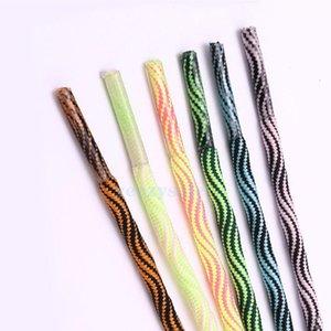 Spirali rotondi a spirale in poliestere da 100 cm per esterni 2020 Bottucce di alpinismo da alpinismo Sport Pallacanestro Shoestring 6 Colori Shoelace