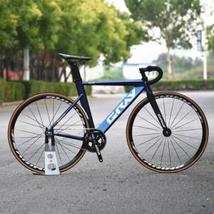 2021 알루미늄 합금 프레임 포크, 25mm 휠 림, 단일 실행 자전거, 700C 고정 피니언, 회색 색상이있는 픽스 트랙 자전거