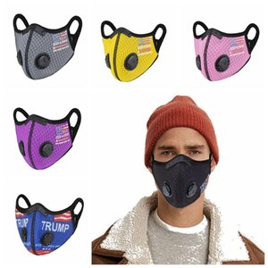 Cycling Mask With Breath Valve Trump 2020 US Election Dustproof Hazeproof Breathable Sun Protective Mask Outdoor Sports Mouth Cover LJJP825