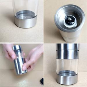 Feijão de café Abrader manual Herb Hyaline Glass Grinder Moinho de aço inoxidável Moinho de sal cominho de cominho Space Destacável 9 8KD C2