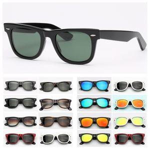 Occhiali da sole da uomo da uomo Occhiali da sole popolari di occhiali da sole Guida di sole Occhiali da sole Protezione UV Lenti in vetro Uomo Donna Occhiali da sole con custodia in pelle