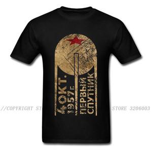 USSR Tshirt Men C C C P T Shirt 2019 Punk Rock CCCP T-shirt Soviet Union Space Program Tops Summer Heavy Metal Letter Tees 3XL 1118