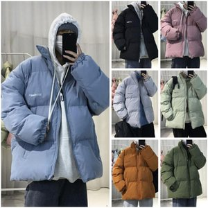 2020 Winter Men's Stand Collar Loose Trench Coats Casual Waterproof Long Parkas In Warm Snow Jackets Cotton-padded Clothes M-3XL