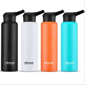 Custom BPA Free With Straw 750ml Auto Metal Stainless Steel Sport Water Bottle DHL fast shipping DHC1032