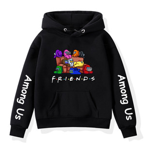 Among Us Friends Printed Hoodies Coats Spring Autumn 2020 Outerwear Kids Hooded Sweatshirt Clothes Children Pullover Sweatshirts F1218