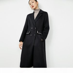 2020 custom made womens Elegant x-long camel black double sided cashmere wool coats turtle neck long sleeves DHL free shipping