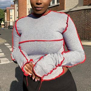Dropshipping ropa de la caída tapas atractivas para las mujeres blusas de manga larga 5XL de cultivos más el tamaño Tops y Bloues artículos a granel Wholesale Lots