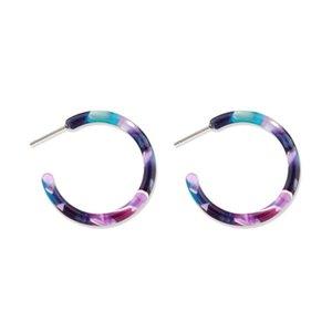 Geomee 1 Çift Bohemian Asetik Asit Yuvarlak Moda Charm Bırak Küpe Vintage Renkli Kişilik Küpe Kadınlar Takı için E527