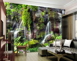 Romantic Landscape 3d Wallpaper Wall Papers Home Decor Garden Landscape Waterfall Background Wall Modern Mural 3d Wallpaper