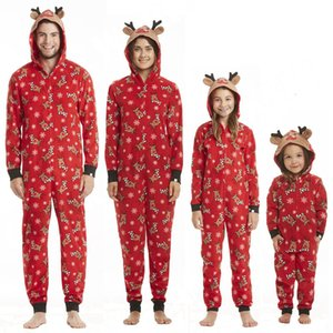 2020 Christmas Adult Kid Baby Set Matching Outfits Pyjamas Romper Family Look New Year Costumes