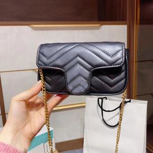 고전적인 럭셔리 디자이너 Marmont Messenger 핸드백 다이아몬드 격자 리플 버튼 크로스 바디 패션 가방