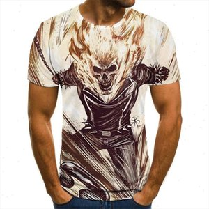 2021 mens skull t shirt fashion summer ghost knight t shirt 3D printing top skull men