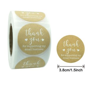 500pcs 2.5 3.8 5cm Thank You Adhesive Stickers Handmade Business Baking Gift Bag Decoration Label